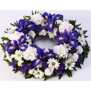 Wreath of Whites & Purple